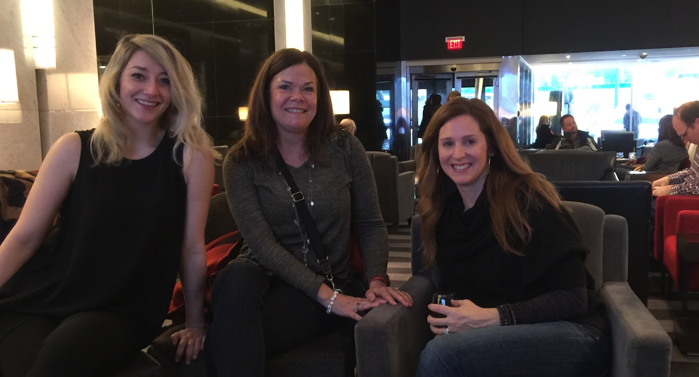Sarah Miniaci, Lynn Coppetelli, and Sarah Gilbert