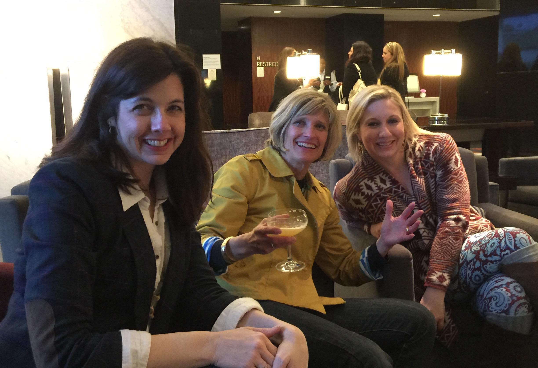 Sandy Poirier Smith and publicists Janet Shapiro and Erin Birnbaum