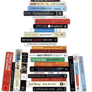 A pile of books that were marketed by Smith Publicity.