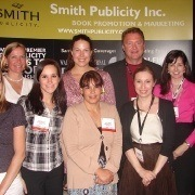 Members of the Smith Publicity Staff at Book Expo America in 2010, a great venue for independent authors to market their book.