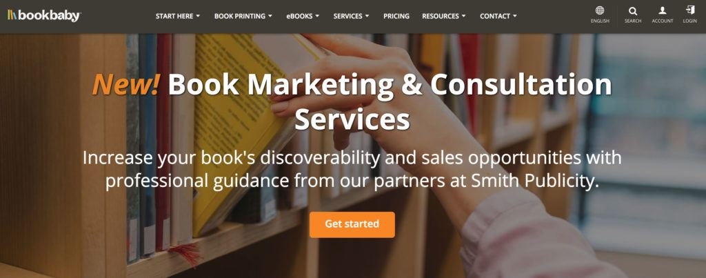 Bookbaby marketing and consultation services.