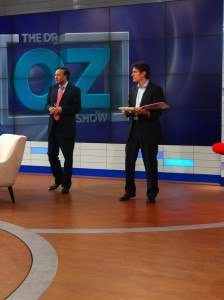 "Image of Dr. Mosaraf Ali taping for appearance on the ""Dr. Oz"" show"