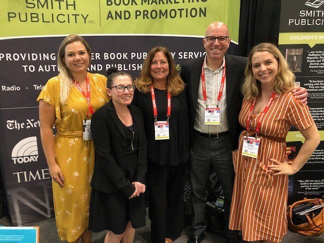 Some of the Smith Publicity team, BookExpo 2019