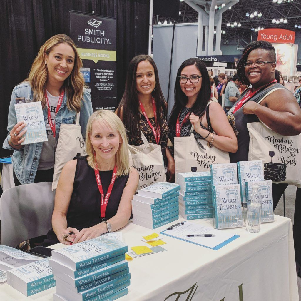 Smith book publicists at the bookexpo america.
