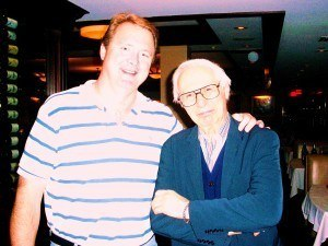 Kreskin with his fiction book publicist Dan Smith who helped market his fiction book.
